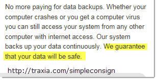 WE guarantee that your data will be safe.